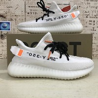 Off-White x adidas Yeezy 350 V2 Boost Beige White Black - Best Deal Online