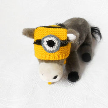 Minion Hat for Cat and Dog 100% handmade hat for Puppy