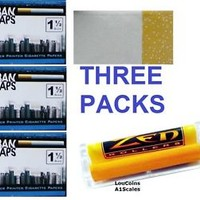 URBAN WRAPS 1 1/2 Size cigarette rolling papers THREE PACKS PLUS ZEN ROLLER
