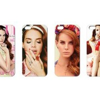Wholesales 4pcs Super Star Lana Del Rey Fashion Back Cover Case Skin for Apple Iphone 5 5g 5s 5th Generation-i5ldr4002