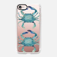 Transparent Blue Crabs iPhone 7 Case by Ann Marie Coolick | Casetify