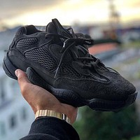"Adidas YEEZY Desert Rat 500 ""UTILITY BLACK"" Sneakers Shoes"