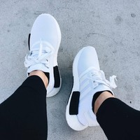 Adidas NMD White/Black Casual Running Sport Sneakers Shoes