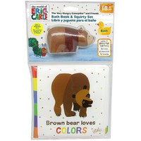 Kids Preferred Eric Carle Brown Bear Bath Book & Squirty