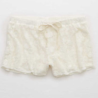Aerie Embroidered Mesh Boxer, Soft Muslin