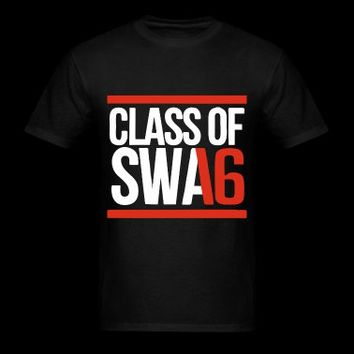 CLASS OF SWAG (2016) red with bands T-Shirt | Spreadshirt | ID: 10919675