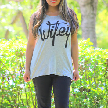 Wifey Tank Top in Gray