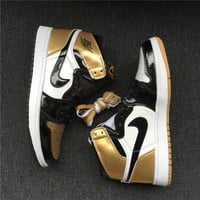 "Air Jordan 1 ""Top 3 Gold"" 861428-001 40--47"