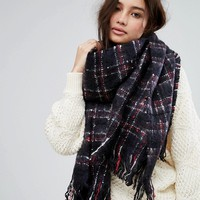 Superdry Blue Check Scarf at asos.com