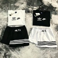 Adidas X Nike Popular Women Stylish Print Short Sleeve T-Shirt Top And Short Skirt I-AA-XDD
