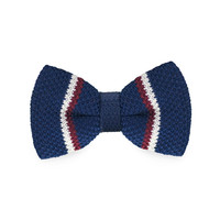 Fashion New Arrival Knitted Men`s Bow Ties Adjustable Blue Novelty Geometric For Men Party Bussiness