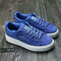 Fashion PUMA Women Man Casual Running Sport Shoes Sneakers Blue
