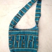 Cotton Canvas Boho Handcrafted Hippie Indian Sling Cross Body Long Shoulder Bag