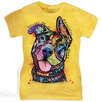 MY FAVORITE BREED Womens T-Shirt Pit Bull Rescue Dog Mountain Tee Top S-2XL NEW!