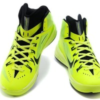 NIke Zoom Hyperdunk Fluorescent Green / Black Basketball Shoes