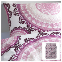 LYCKOAX Quilt cover and 4 pillowcases - 200x200/50x80 cm  - IKEA