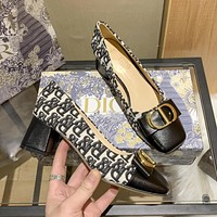Dior CD new high heel sandals fashion ladies casual shoes