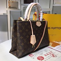 LV Louis Vuitton WOMEN'S MONOGRAM CANVAS Rivoli HANDBAG SHOULDER BAG