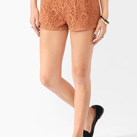 FOREVER 21 Sweet Floral Lace Shorts