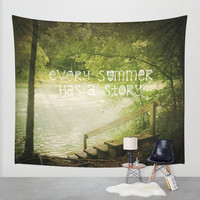 Every Summer Has A Story Wall Tapestry by Jenndalyn
