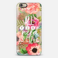 All You Need Is Love Watercolor Floral iPhone 6 case by Jande La'ulu | Casetify