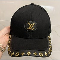 LV New fashion embroidery monogram sun protection cap hat Black