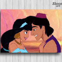 aladdin and jasmine print disney wall art princess jasmine disney decor