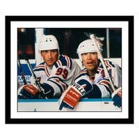 Framed Wayne Gretzky & Mark Messier Autographed Photo