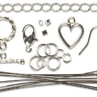 Cousin Jewelry Basics Starter Pack, Silver, 145-Piece