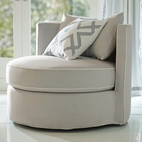 Round-About Chair, Slip and Frame Sets, Light Grey
