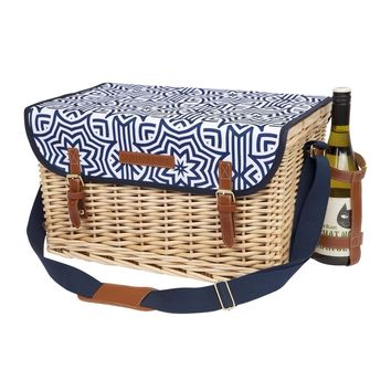 Azule Print Luxe Picnic Basket