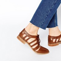 ASOS MELS Leather Flat Shoes