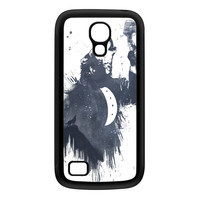 Wolf Song 3 Black Silicon Rubber Case for Galaxy S4 Mini by Balazs Solti
