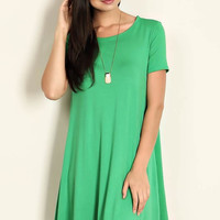 Never Say Never Shift Dress - Kelly Green