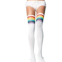 Over the Rainbow Opaque  Thigh Highs - One Size