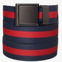 Red and Navy Canvas Belt