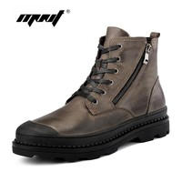 Men Boots Genuine Leather Winter Boots