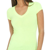 Neon V-Neck Tunic Tee   Shop Just Arrived at Wet Seal