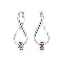 Bling Jewelry Twisted Bead Drops