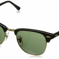 Ray-Ban RB3016 W0365 Clubmaster Black Frame Green Classic 51mm Lens Sunglasses