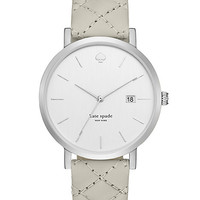 Kate Spade Grand Quilted Strap Metro Watch Grey/Stainless ONE