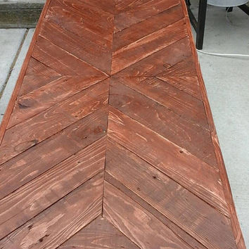 Coliding chevron:  Coffee table , Pallet wood , Reclaimed, hand crafted, wooden table, furniture