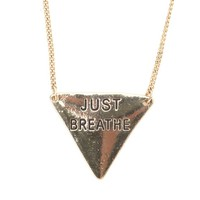 With Love From CA Just Breathe Necklace - Womens Jewelry - Gold - One