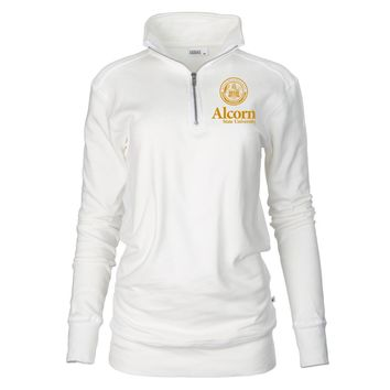 Official NCAA Alcorn State University Braves Unisex 1/4 Zip Up Fleece Pullover