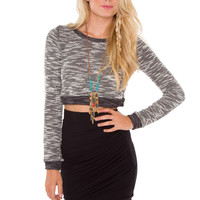 Can't Wake Up Crop Sweater
