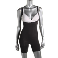 Spanx Womens Open Bust Mid-Thigh Body Shaper