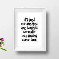 "love quotes""you and me""inspirational art,best words,word art,gift for her,gift for him,dorm room decor,love print,wall decor,typography art"
