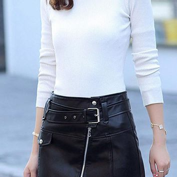 Brooklyn Faux Leather Skirt