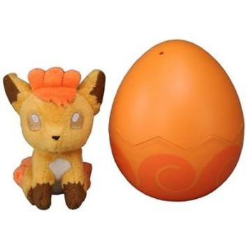 Takara Tomy Pokemon Vulpix Egg Plush Doll T-03 FreeShipping