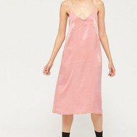 Urban Renewal Remnants Silky Midi Slip Dress | Urban Outfitters
